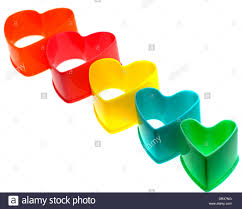 shaped plastic cookie cutters stock photo royalty
