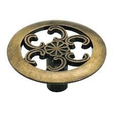 home depot brass kitchen cabinet handles amerock allison value 1 1 2 in 38 mm diameter antique brass cabinet knob 890abs the home depot