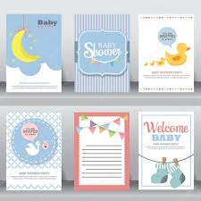 Baby Welcome Invitation Cards Templates Cute Baby Backgrounds U2014 Stock Vector Wongwichainae Gmail Com