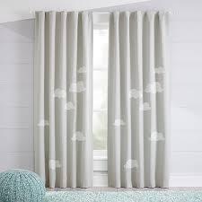 Gray And White Blackout Curtains Cloud Blackout Curtains Crate And Barrel