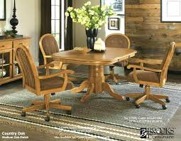 kitchen table and chairs with wheels extraordinary oak dining chairs with casters dinette chairs with