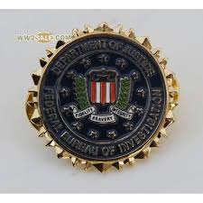 federal bureau of justice us department of justice federal bureau of invertigation lapel badge