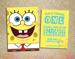 birthday invites astonishing spongebob birthday invitations ideas