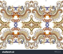 wide border complex colorful ornaments decorated stock vector