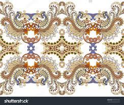 wide border complex colorful ornaments decorated stock vector