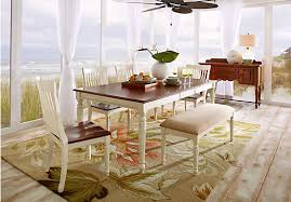 Rooms To Go Dining Room by Cindy Crawford Home Ocean Grove White 5 Pc Rectangle Dining Room