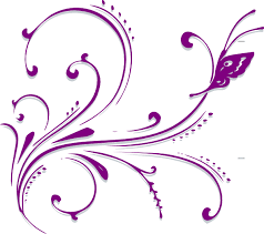 purple butterfly scroll clip at clker com vector clip