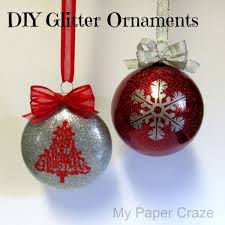 glitter ornaments a diy silhouette tutorial silhouette school
