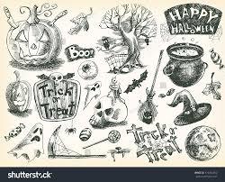 vector vintage hand drawn sketch halloween stock vector 316462952
