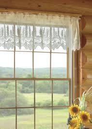 Lace Curtains And Valances Pinecone Valance Heritage Lace