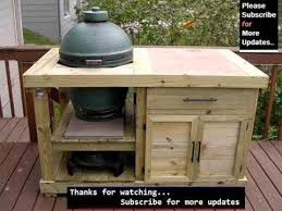 how to build a weber grill table kettle grill cart plans picture collection youtube