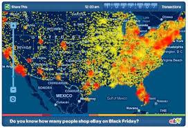 ebay black friday ebay transaction heat map of black friday 2009 tinyhacker