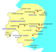 map of east uk bed and breakfasts uk bed and breakfast hotels in east anglia