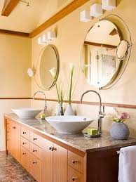round sink bowl bathroom fabulous bathroom design with long brown bathroom cabinet