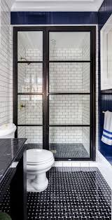Connecticut Shower Door Black Glass Paneled Shower Door Evars Design