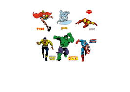 classic superheroes wall decal shop fathead for marvel decor