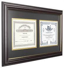 diploma frame dual vertical diploma frame 2 8 5 x 11 certificates