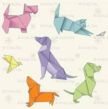 Origami Pets - origami pets fabric cindydaystudio spoonflower