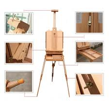 portable french easel wooden sketch box durable folding artist