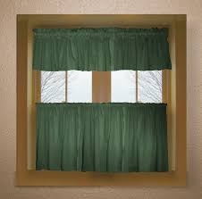 Green Kitchen Curtains Green Color Tier Kitchen Curtain Two Panel Set