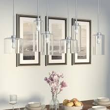 light for kitchen island wade logan siddharth 6 light kitchen island pendant reviews