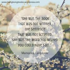 my thoughts about memories by lang leav book review 88