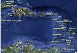 Map Of Eastern Caribbean by Alexander Keith Johnston U0027s Map Of World Diseases U2013 A Detailed