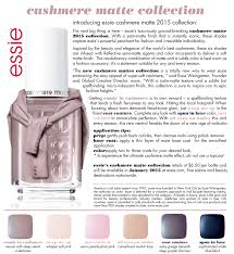 a closer look essie cashmere collection the trendy nail