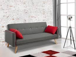 coussin sur canap gris canapé clic clac en tissu gris et coussins darvel