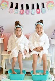 how to host a spa day for kids pedicure station diy pedicure