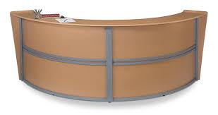 Reception Station Desk Ofm Marque Series Unit Curved Reception Station Cherry