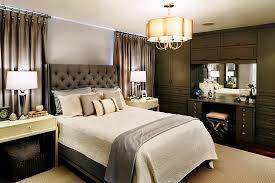 Modern Traditional Bedroom - elegant brown furniture in master bedroom home interior design