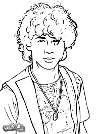 nick jonas with guitar coloring pages hellokids com