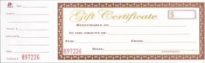 gift certificate printing gift certificates rapid printing