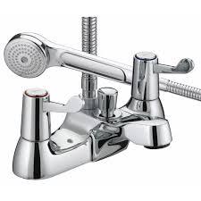 bristan value lever bath shower mixer val bsm c cd deck bristan value lever bath shower mixer tap chrome plated with ceramic disc valves