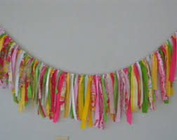 colorful garland etsy
