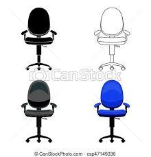 arriere plan bureau animé style illustration bureau symbole isolé dessin animé