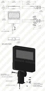 led parking lot lights vs metal halide led parking lot light 150w 320 400w mh equivalent led shoebox
