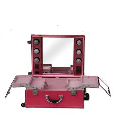 Cheap Professional Makeup Aliexpress Com Buy Professional Makeup Case With Lights Trolley