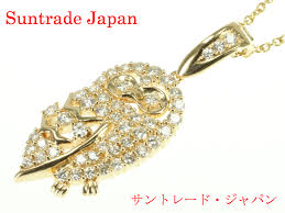gold owl pendant necklace images Suntrade japan rakuten global market tasaki k18 yellow gold jpg