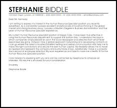 inspirational sample cover letter for hr 19 for your cover letters