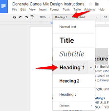 Google Docs Table How To Create Table Of Contents In Google Docs