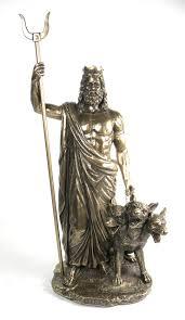 guard dog statue bronze finish god hades and cerberus statue sculpture