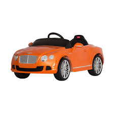 bentley orange licensed bentley ra 12v kids battery powered ride on car orange