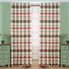 Teal And Red Curtains Beautiful Red Green Striped Curtains Polyester
