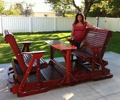 wooden glider swing best adirondack chair company