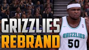 nba 2k16 memphis grizzlies rebrand youtube