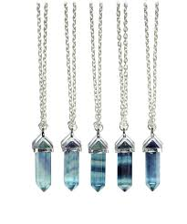 crystal necklace stone images Fluorite turquoise healing crystal stone necklace bohemian jpg