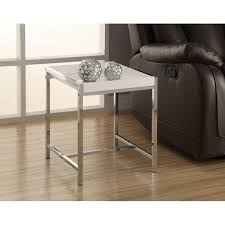 acrylic chrome metal accent table multiple colors by monarch