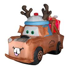 christmas jeep clip art shop 4 593 ft internal light disney mater christmas inflatable at